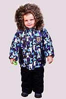 Детские зимние комбинезоны для мальчиков р.86-110 до -20 мороза на наши зимы Арнамент-2 с подстежкой