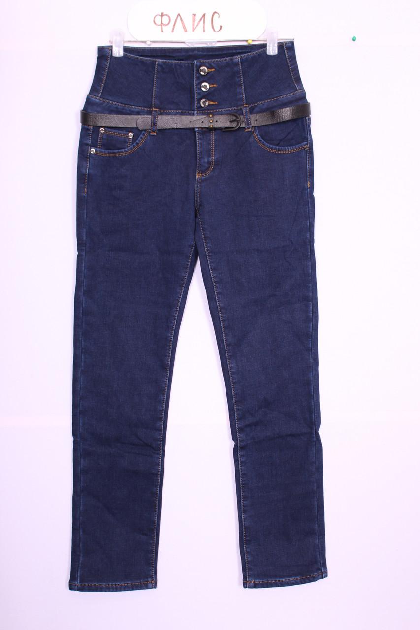 Женские  утепленные джинсы больших размеров( код 8637с)