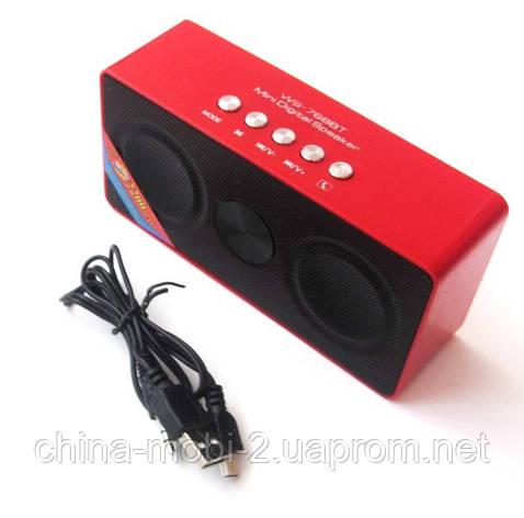 Портативна бездротова колонка динамік радіо WS-768BT Bluetooth new2, фото 2