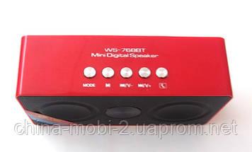 Портативная беспроводная колонка/ динамик/ радио WS-768BT Bluetooth, фото 3