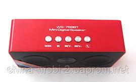 Портативна бездротова колонка динамік радіо WS-768BT Bluetooth new2, фото 3