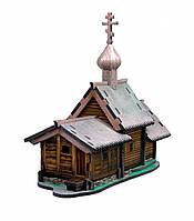 """Объемный пазл. Сборная игрушка """"Церковь Воскрешения Лазаря. (о. Кижи)"""". Материал: картон + изолон. Формат: mid"""