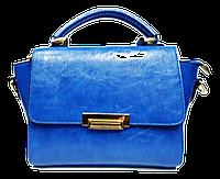 Классическая женская сумка из кожзаменителя синяя GST-768532, фото 1