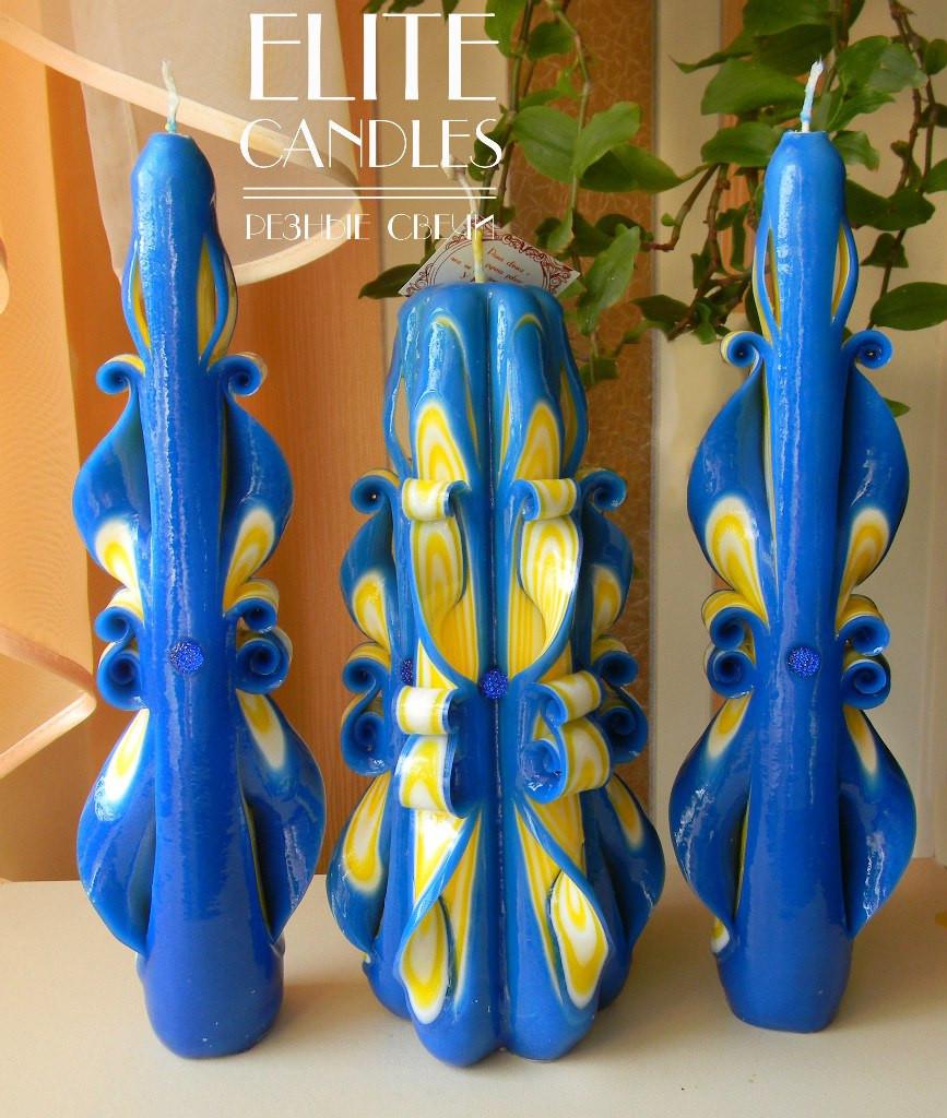 Набор свечей прекрасный выбор для церемонии семейный очаг №1041 выполнен в национальных цветах