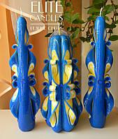 Набір свічок прекрасний вибір для церемонії сімейне вогнище №1041 виконано в національних кольорах