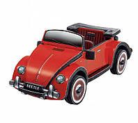 "Объемный пазл. Сборная игрушка "" Volkswagen Beetle"". Материал: картон + изолон. Формат: mini"