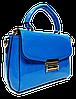 Привлекательная лаковая женская сумка синего цвета NBT-768742