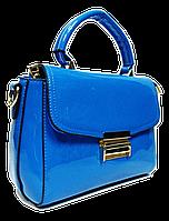 Привлекательная лаковая женская сумка синего цвета NBT-768742, фото 1