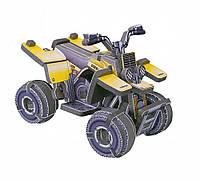 """Объемный пазл. Сборная игрушка """"Квадроцикл"""". Материал: картон + изолон. Формат: mini"""