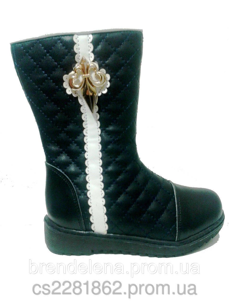 Сапоги для девочки зимние кожаные р27