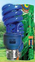 Синяя лампа энергосберегающая декоративная  15 Вт