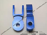 Удлинитель проставки задних амортизаторов (пара) синий Mototech
