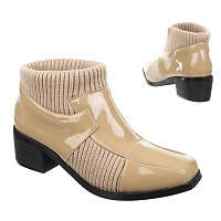 Женские ботинки на низком ходу  50396-camel