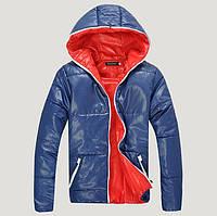 Теплая Куртка синяя весна-осень