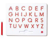 Магнитная доска для изучения больших английских печатных  букв от А до Z, 3+ (цвет красный), Kid О