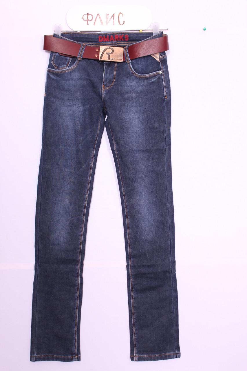 Женские утепленные джинсы на флисе  (код 77283)