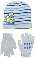 """Комплект шапка и перчатки """"Миньоны""""; универсальный размер"""