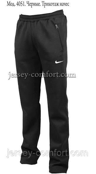 Чоловічі брюки утеплені - трикотаж-начіс.Чорні