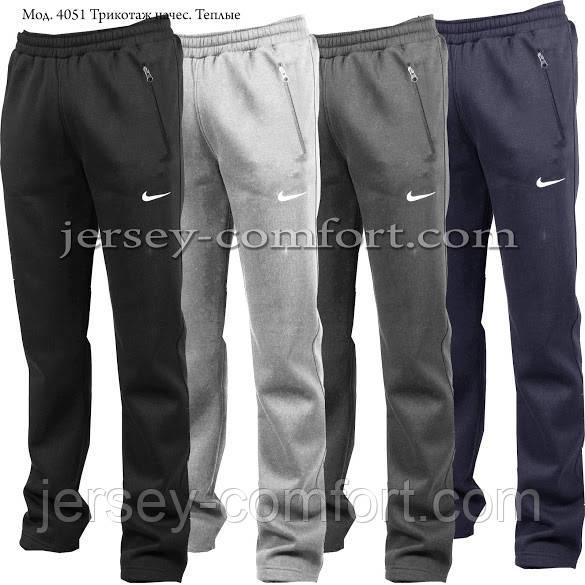 Мужские утепленные брюки- трикотаж-начес. 42-58 размеры