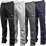 Чоловічі брюки утеплені - трикотаж-начіс.Чорні, фото 2
