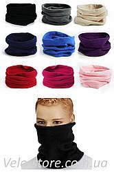Флисовый теплый бафф (шарф рукав)