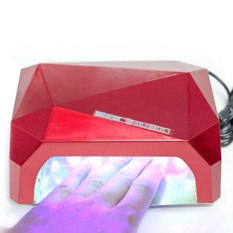 Гибридная УФ-лампа  LED+CCFL Diamond 36W (магнит)для гель-лаков с таймером  гибрид