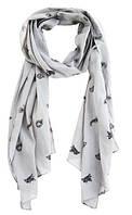 Ультрамодный мужской шарф 202x47 см. Quiksilver Badger M NKWR Dark Shadow-Solid 888256497740 серый