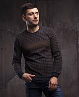 Коричневый мужской свитер турецкого производства Fibak