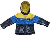 Детские демисезонные куртки-жилетки мальчикам р.92-122, новинки утепленные флисом есть манжеты