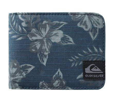 Мужской кошелек в оригинальный принт Quiksilver JUNGLE M WLLT'15 Dark Denim 888256341159 темный синий