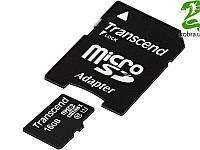 MicroSDHC 16GB UHS-I Class 10 Transcend Premium 400x + SD-adapter (TS16GUSDU1)