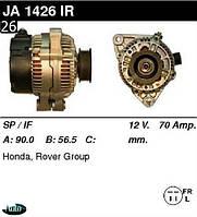 Генератор Honda Accord / Rover 600 2.0 96-98г 70 Амр. JA1426IR