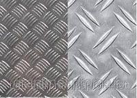Лист рифленый квинтет стальной 4 мм, 5 мм, 6 мм, м