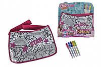 """Творчество и рукоделие «Color Me Mine» (6379160) Сумочка """"Color Me Mine з блискітками. Хіпстер"""", 5 маркерів, 33х23 см, 6+"""