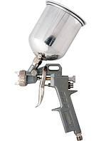 Краскораспылитель (краскопульт)пневмат. с верхним бачком V= 0,6 л + сопла 1.2, 1.5 и 1.8 мм MATRIX