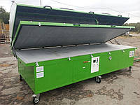Мембранно вакуумный пресс для шпонирования с обогревом мембрана каучук стол 4000х1500 алюминий 10мм , фото 1