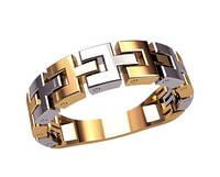 Составное мужское золотое кольцо 585* пробы