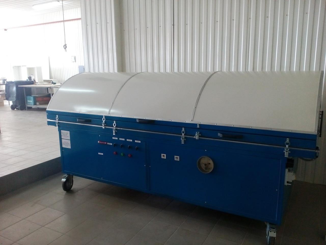 Мембранно вакуумный пресс для шпонирования с обогревом мембрана каучук стол 3000х1500 алюминий 10мм
