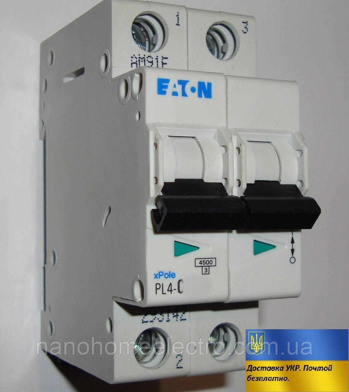 Автоматический выключатель Eaton-Moeller PL4-C 2P 40A  - NanohomeElectro в Днепре