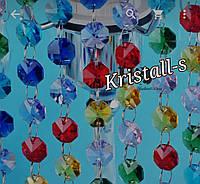 Гирлянда из кристаллов для свадебного декора РАЗНОЦВЕТНЫЙ
