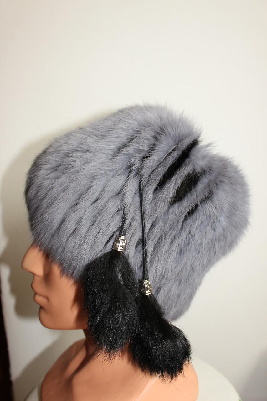 Женская меховая шапка из кролика на трикотажной основе, от производителя, кубанка