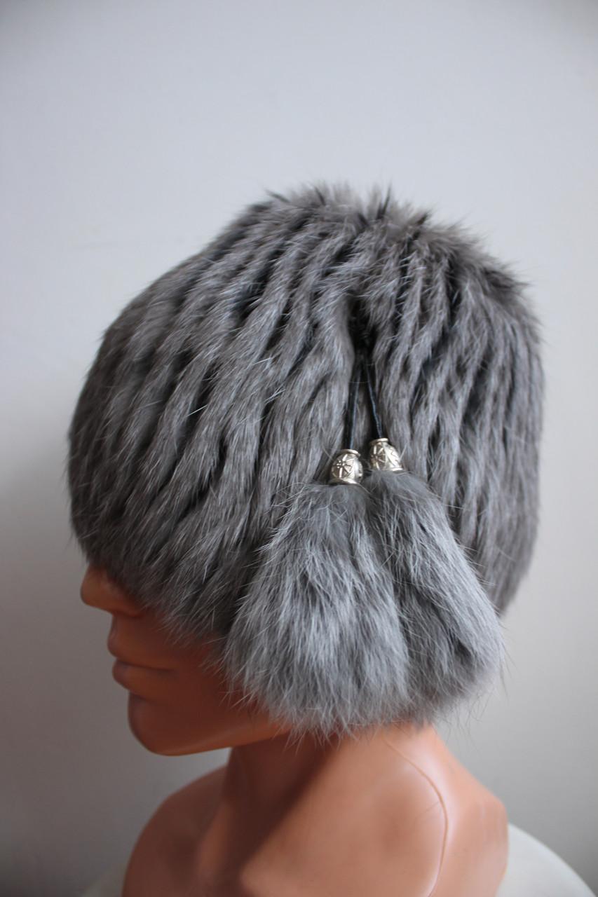 Женская меховая шапка из кролика на трикотажной основе, от производителя, серая кубанка