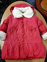 Зимнее пальто для девочки 110 размер