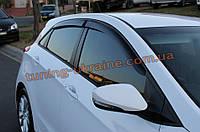 Дефлекторы окон (ветровики) COBRA-Tuning на HYUNDAI I30 HB 5D 2012-15