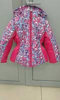 Шикарная зимняя курточка из мембранной ткани для девочки