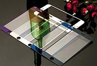 Цветное защитное стекло для на iPhone 4 4s 5 5s 6 6s
