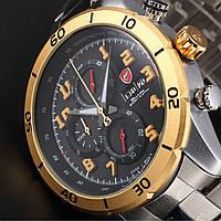 Мужские наручные часы Shark Men's Fashion 3D Stainless Steel Silver Gold Date Day Quartz Wrist Watch RS037S