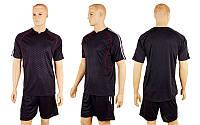 Форма футбольная без номера CO-3119-BK (р-р M-XXL, черный, шорты черные)