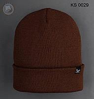 Шапка (зимняя , без помпона) Staff - Art. KS0029 (коричневый)