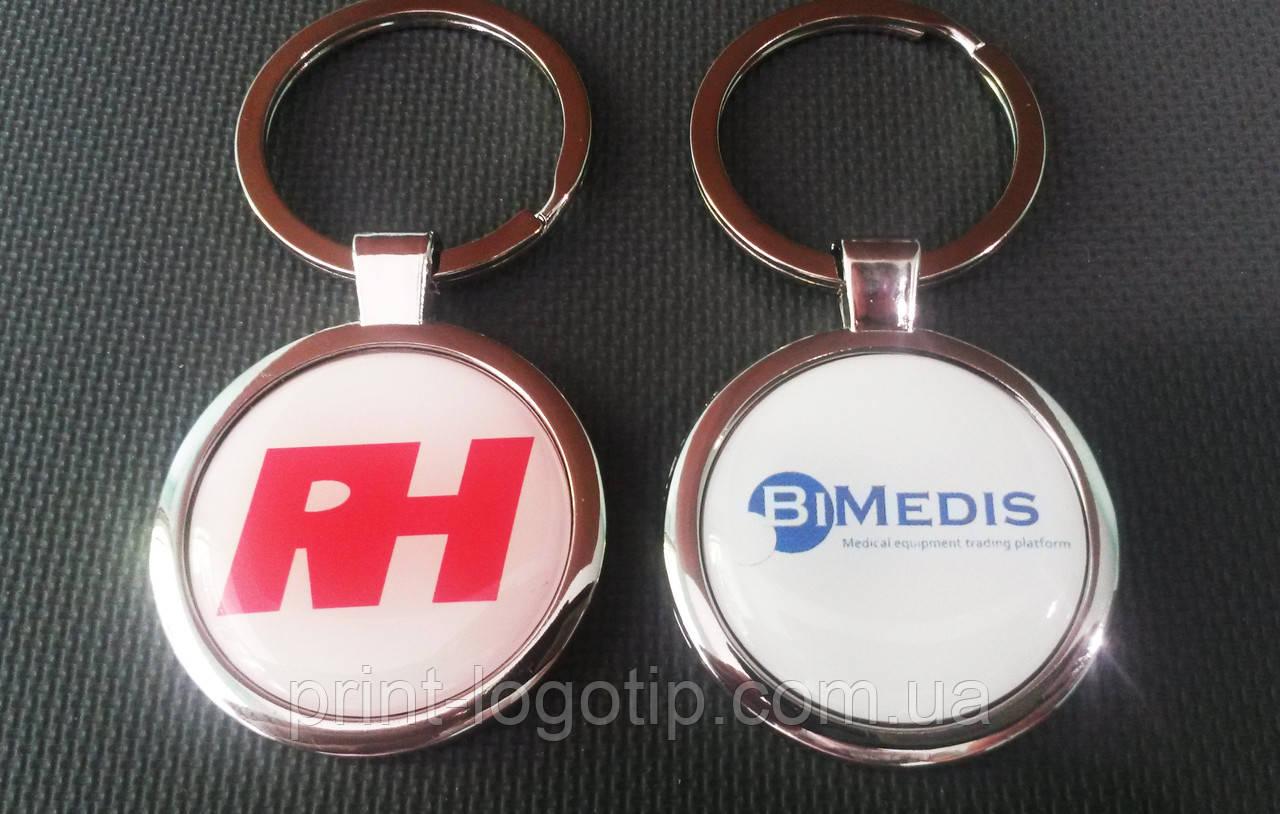 Брелки с логотипом, металлические брелки